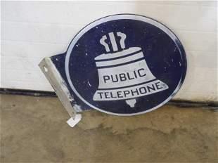 DST Public Telephone flange sign