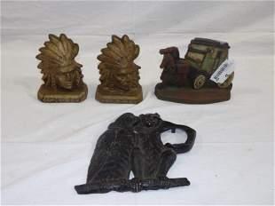 Three piece cast iron lot