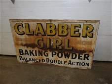 SST Clabber Girl Baking Powder sign