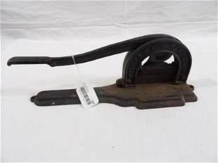William Edwards & Co. Cast iron tobacco cutter