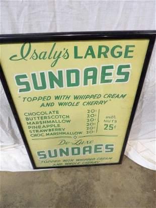 Isaly's Sundaes framed paper poster