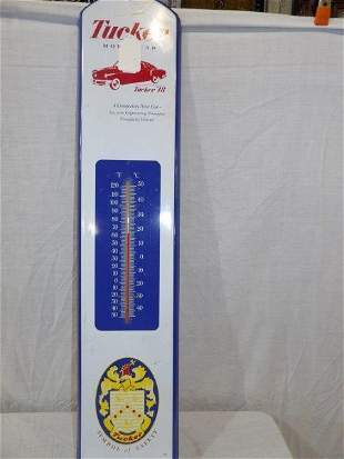 1991 Tucker Motor Car metal thermometer