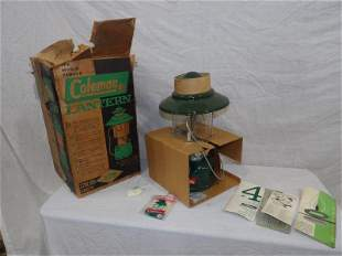 NOS Green Coleman 2- Mantle lantern w/ orig. Box