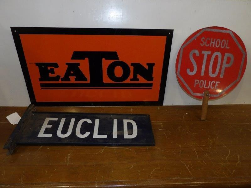 Lot of three signs
