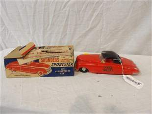 1950s Saunders Sportster Fire Chief (friction) car