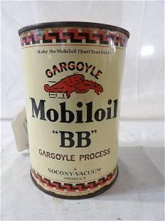 """Gargoyle Mobiloil """"BB"""" Motor Oil 1 qt can"""