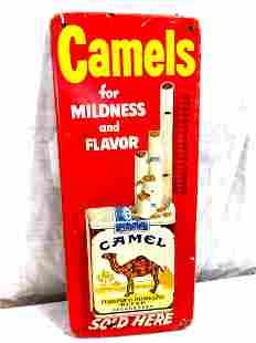 Camel Cigarettes embossed thermometer