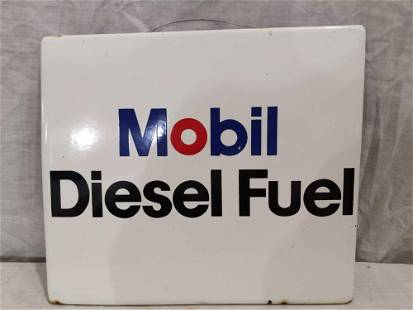 Mobil Diesel Fuel porcelain pump plate