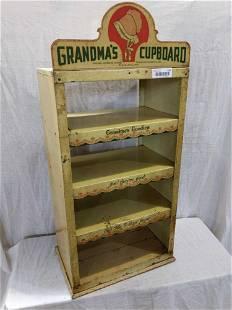 Country Store Grandma's Cupboard metal display