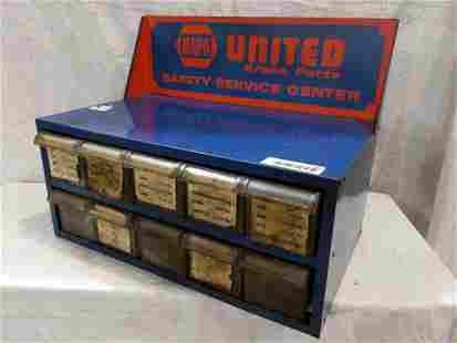 Napa United metal countertop display cabinet