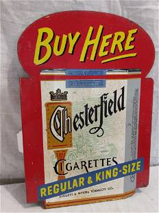 DST Chesterfield Cigarettes flange sign