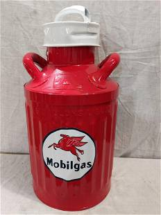 Restored Ellisco 5 gallon oil can