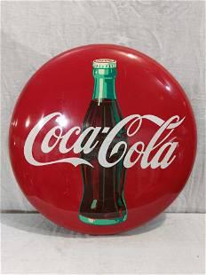 "Metal 24"" Coca-Cola button"