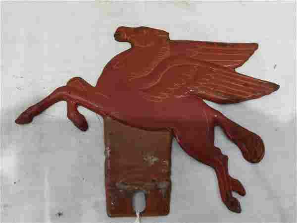 Mobiloil Pegasus license plate topper