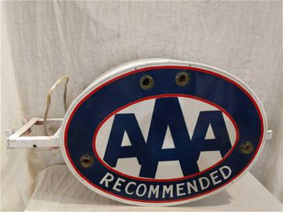 Hand-painted AAA Recommended neon sign
