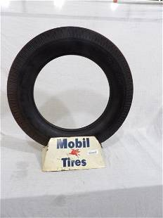Mobil Tires metal display with Mobil tire