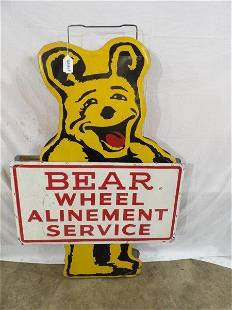 DST Bear Wheel Alinement Service sign