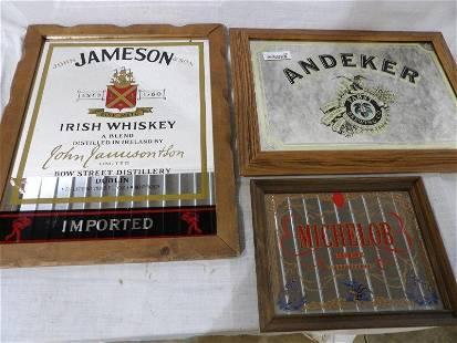 Michelob, Andeker, Jameson Irish whiskey advertising