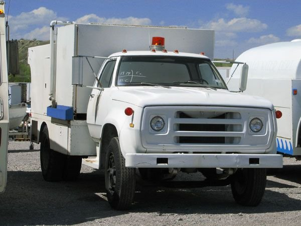 1706: 1974 Dodge Jet Pipe Cleaning Truck, Piston Pump,