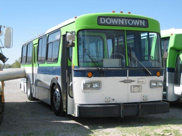 1734: 1989 Orion 30 Passenger Bus, Green/White, Allison