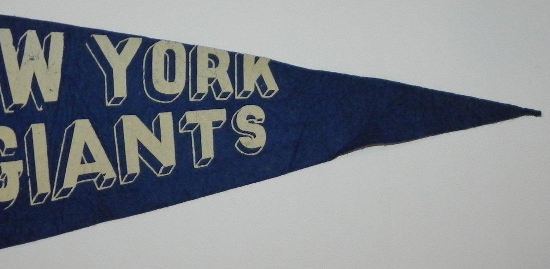 1940's New York Giants Baseball Pennant - 3