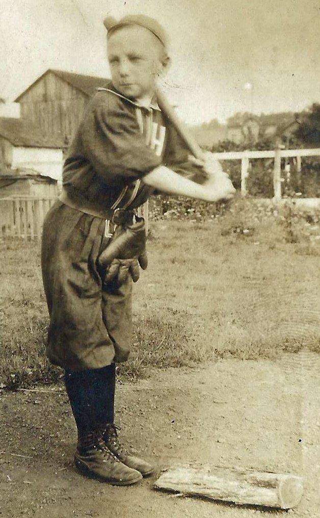 Circa 1900 Young Boy Baseball Player Cabinet Photo - 2