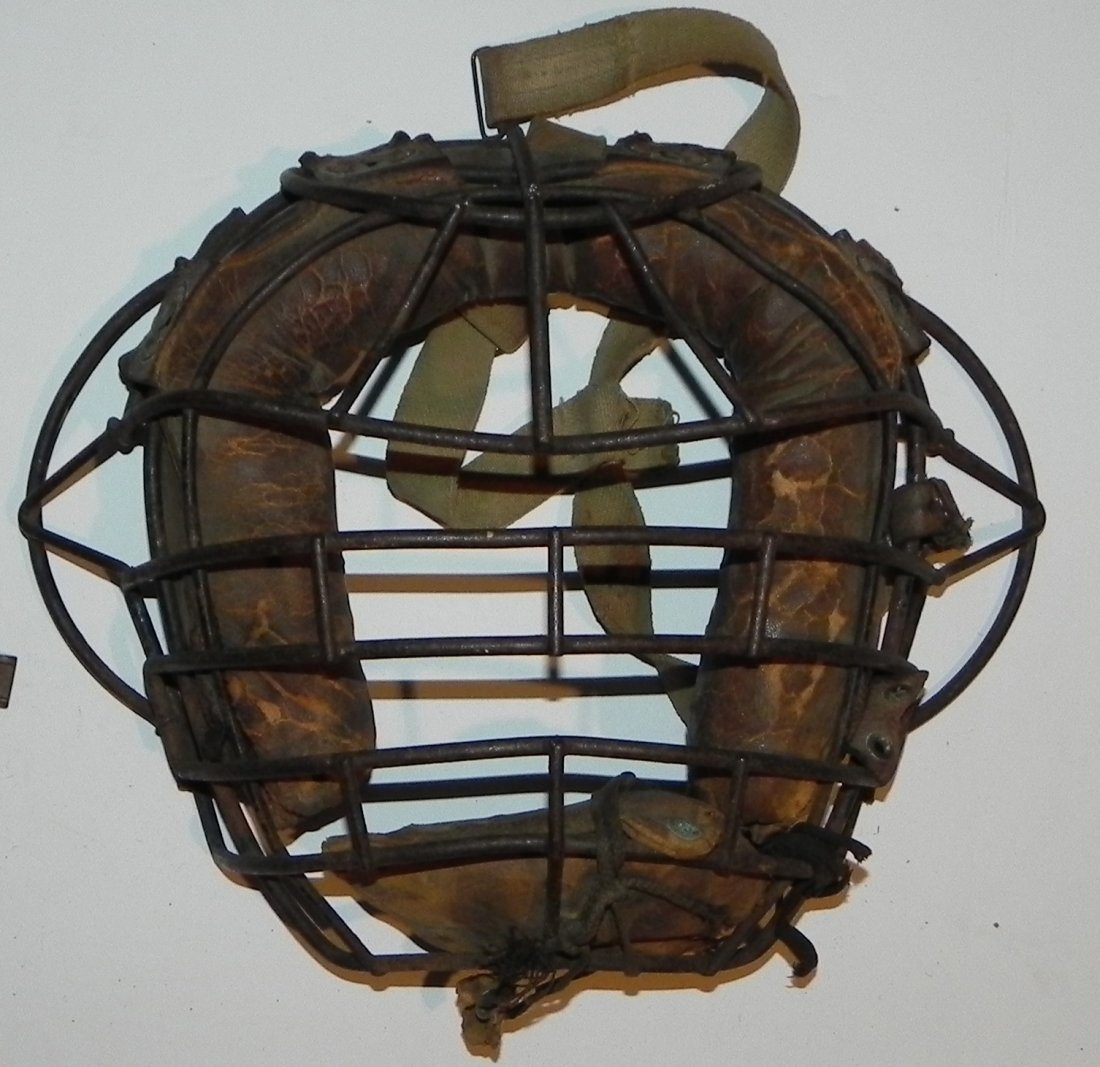 Vintage Group of 1930's Baseball Catcher's Equipment - 3