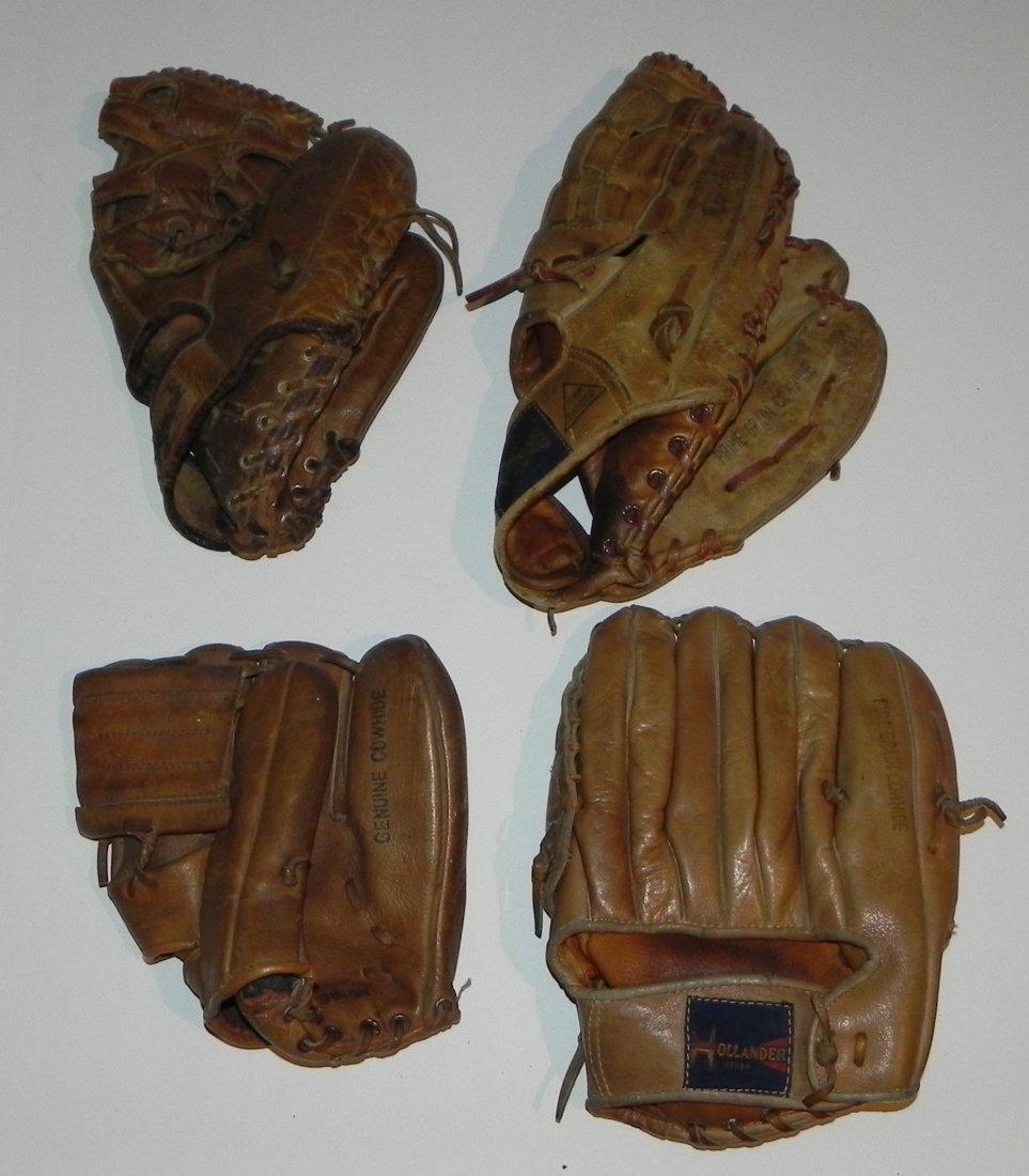 Group of 4 Vintage Sandy Koufax Dodgers Baseball Gloves