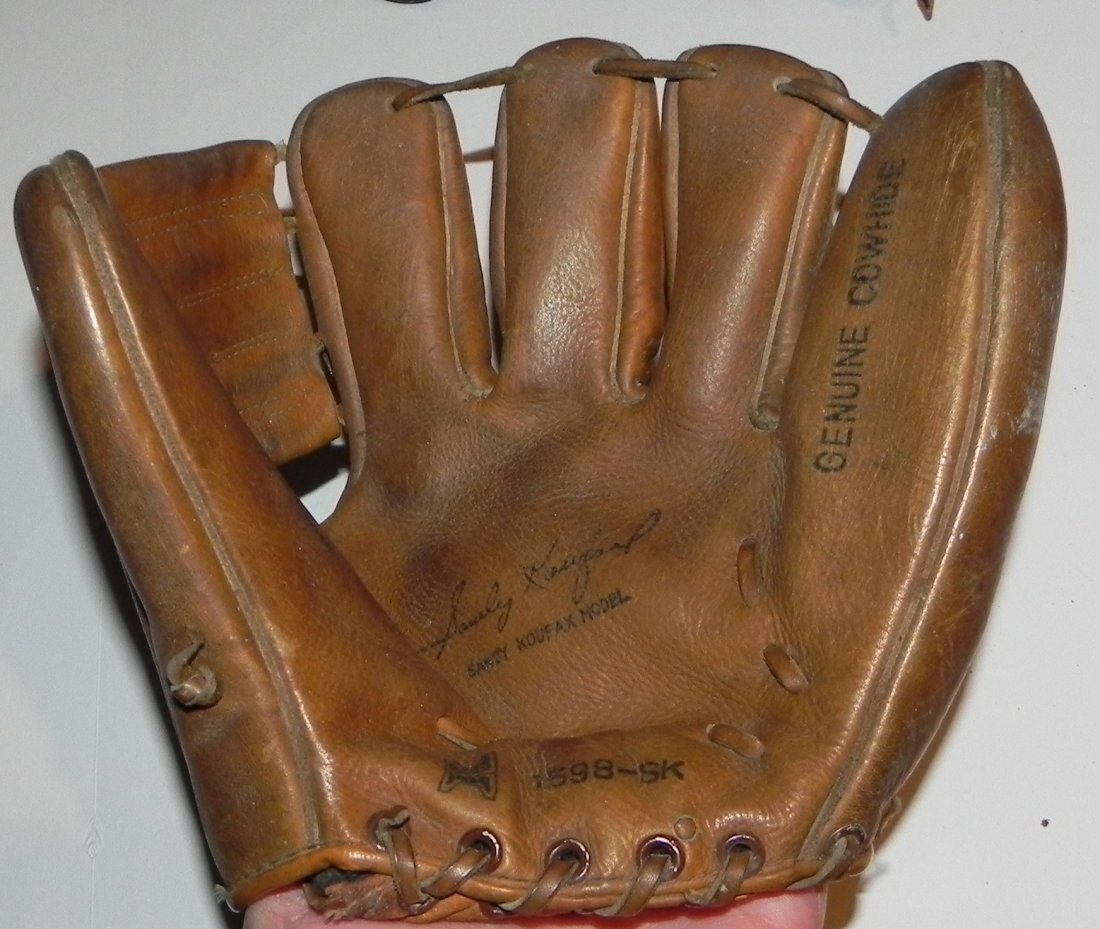 Group of 4 Vintage Sandy Koufax Dodgers Baseball Gloves - 4