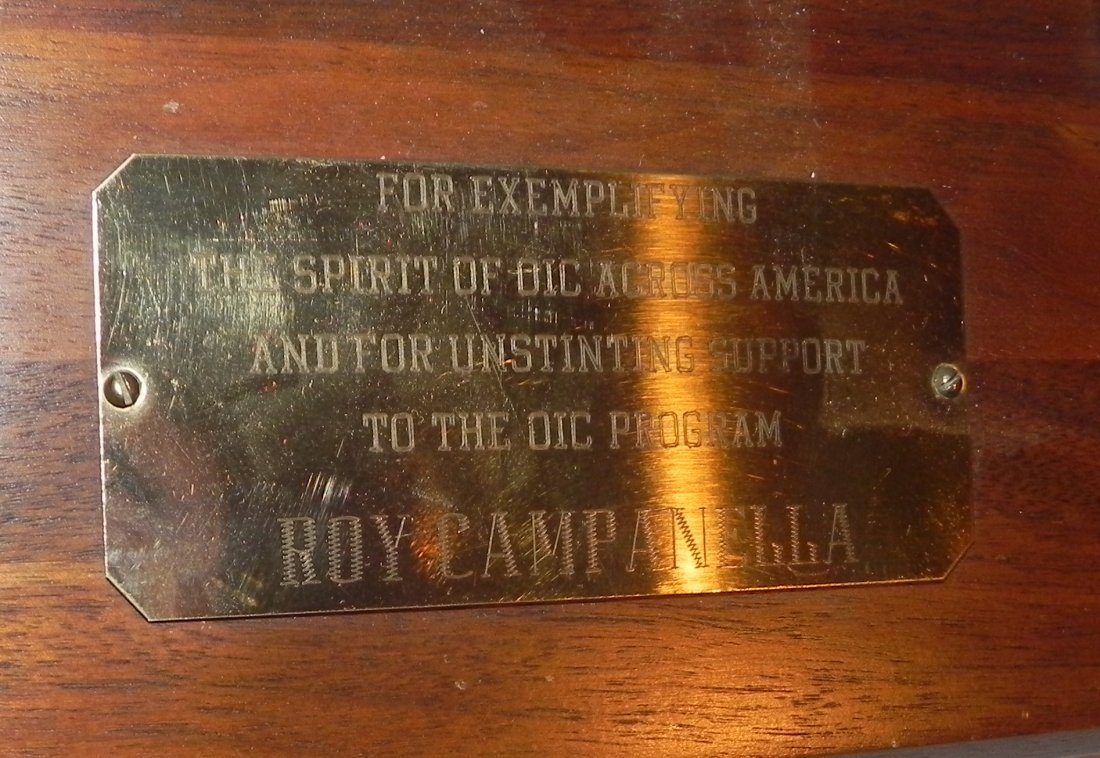 Roy Campanella Owned Award Plaque - Vintage Dodgers - 5