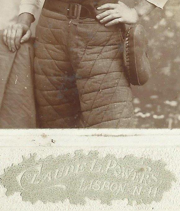 Antique 1890's Lisbon NH Baseball Player Cabinet Photo - 3