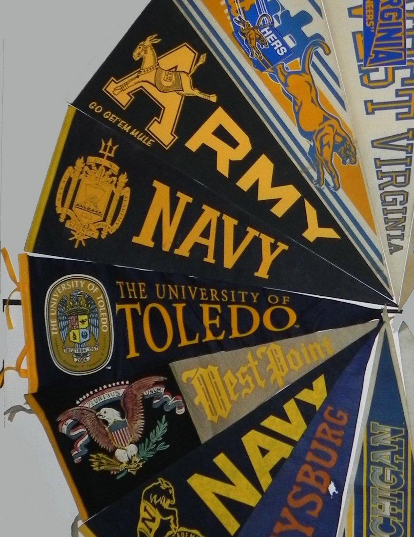11 Vintage College Pennants Army Navy Pitt Michigan - 3