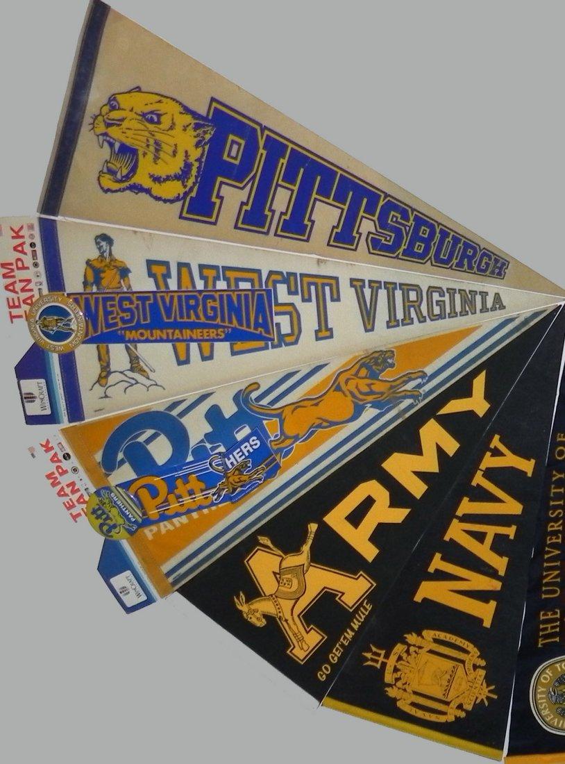 11 Vintage College Pennants Army Navy Pitt Michigan - 4