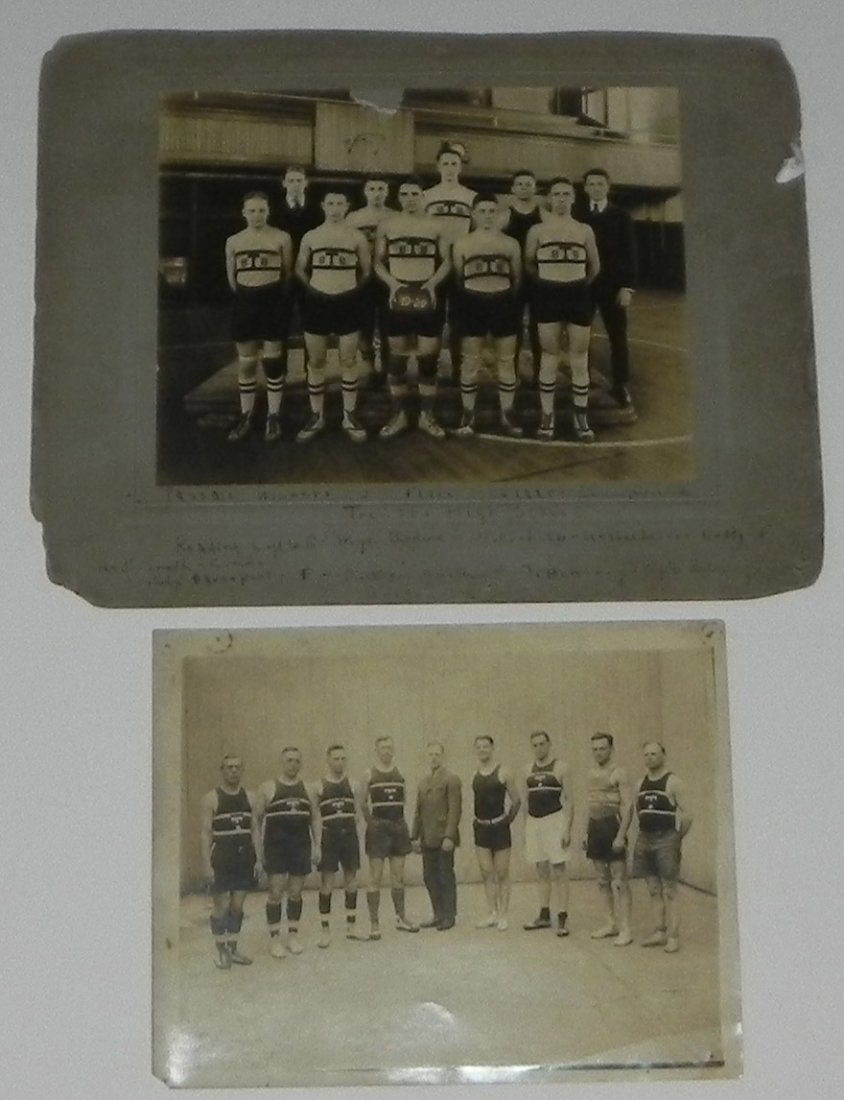 2 1920 Basketball Team Cabinet Photos Trenton NJ