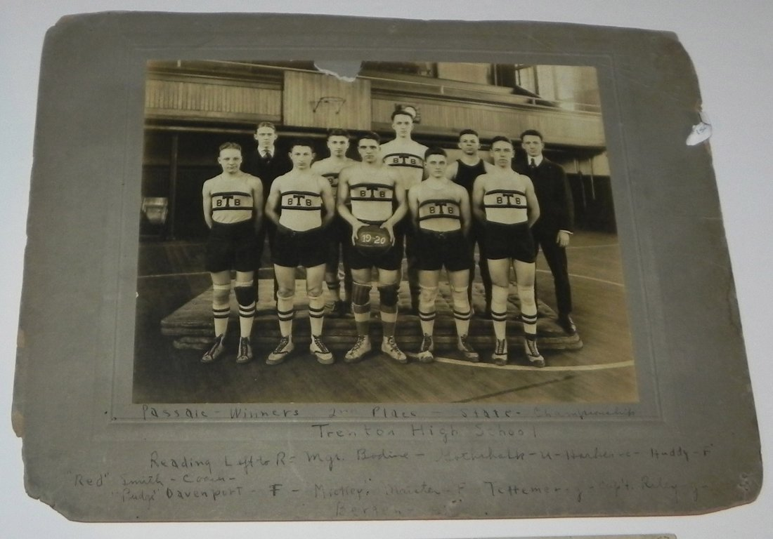 2 1920 Basketball Team Cabinet Photos Trenton NJ - 2