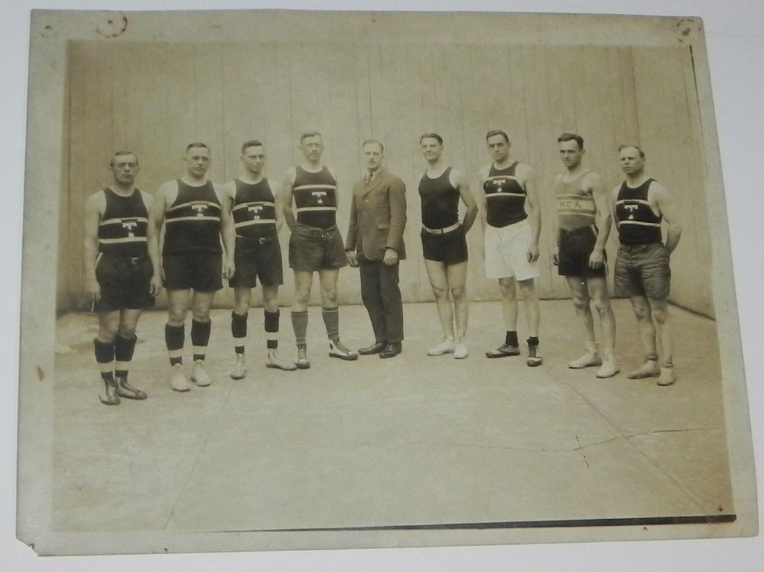 2 1920 Basketball Team Cabinet Photos Trenton NJ - 5