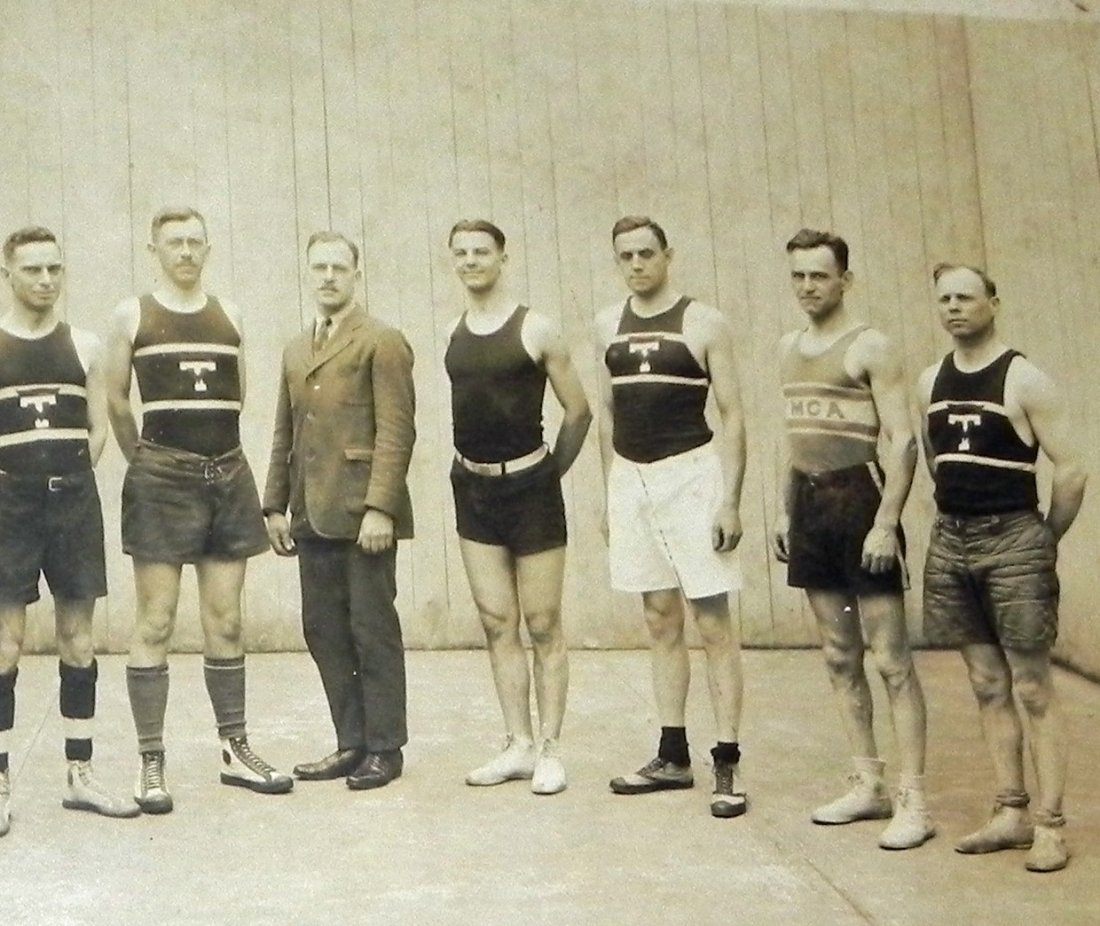 2 1920 Basketball Team Cabinet Photos Trenton NJ - 6