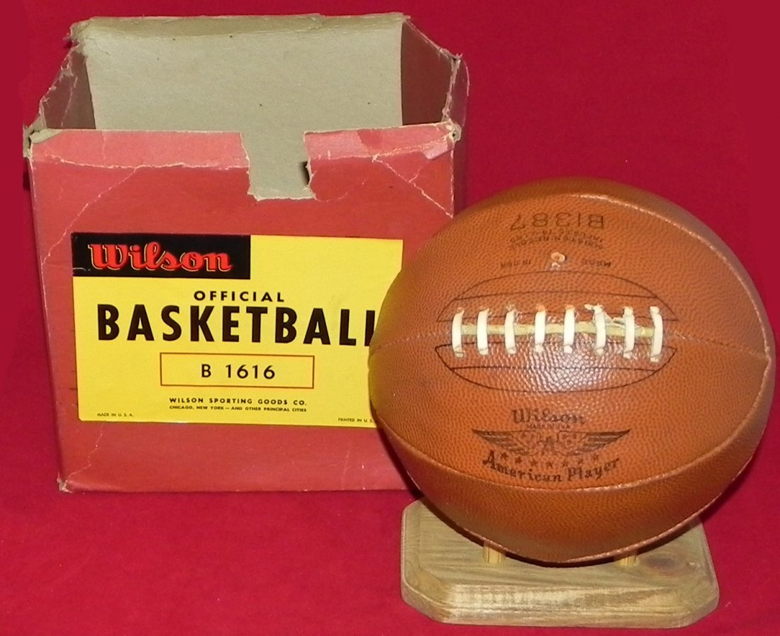 Antique Early 1930's Wilson Laced Basketball with Box