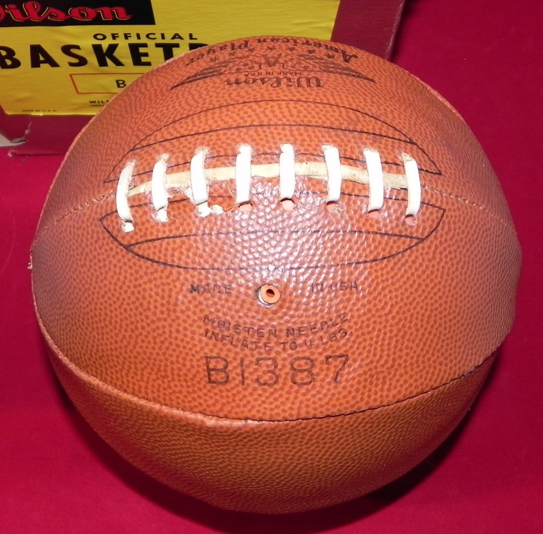 Antique Early 1930's Wilson Laced Basketball with Box - 4