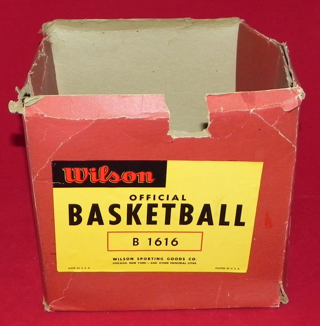 Antique Early 1930's Wilson Laced Basketball with Box - 5