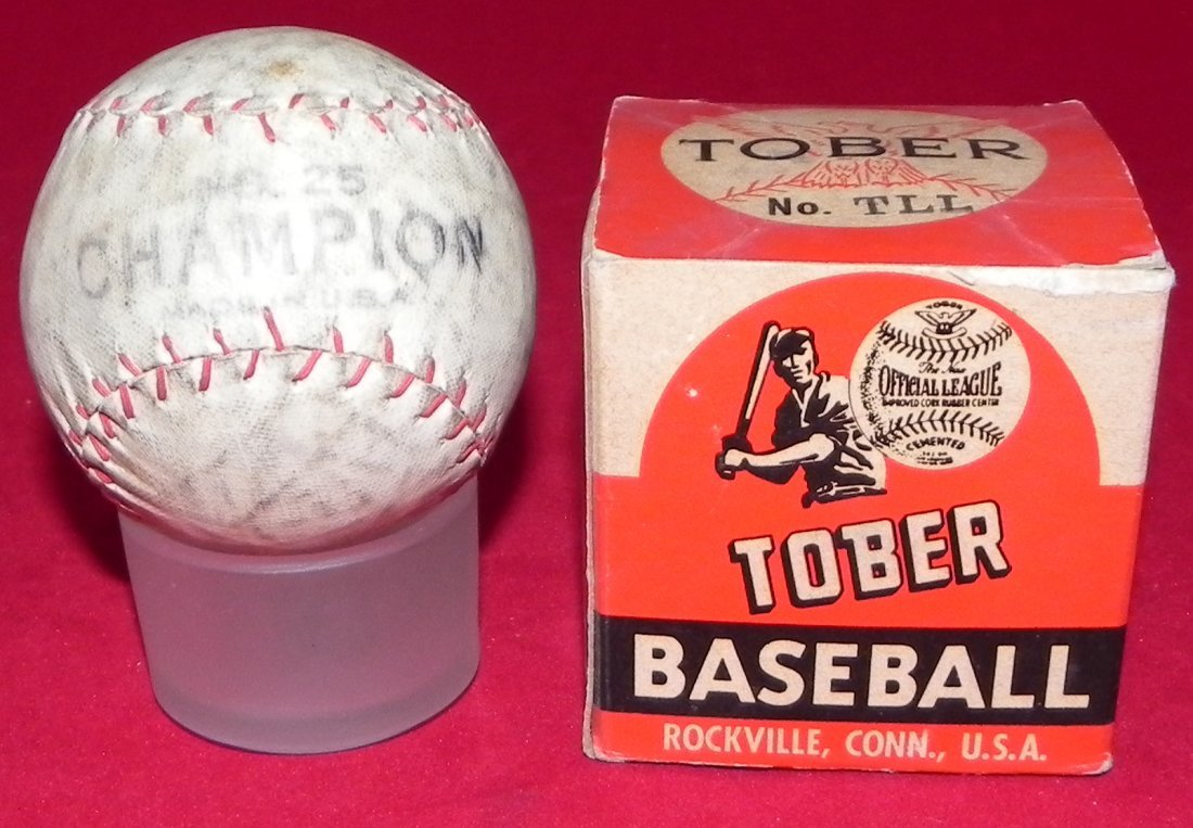 Circa 1930's Tober Baseball Box and Champion Model Ball