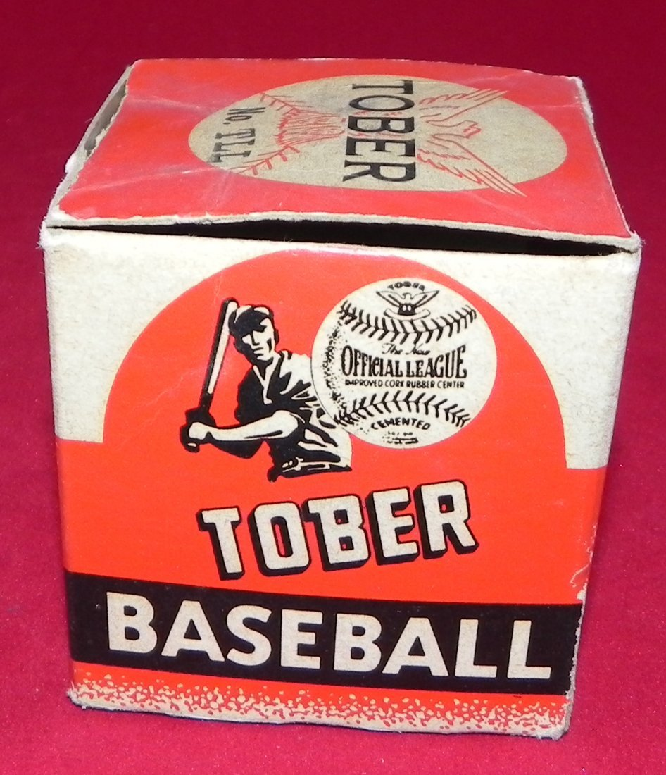 Circa 1930's Tober Baseball Box and Champion Model Ball - 2