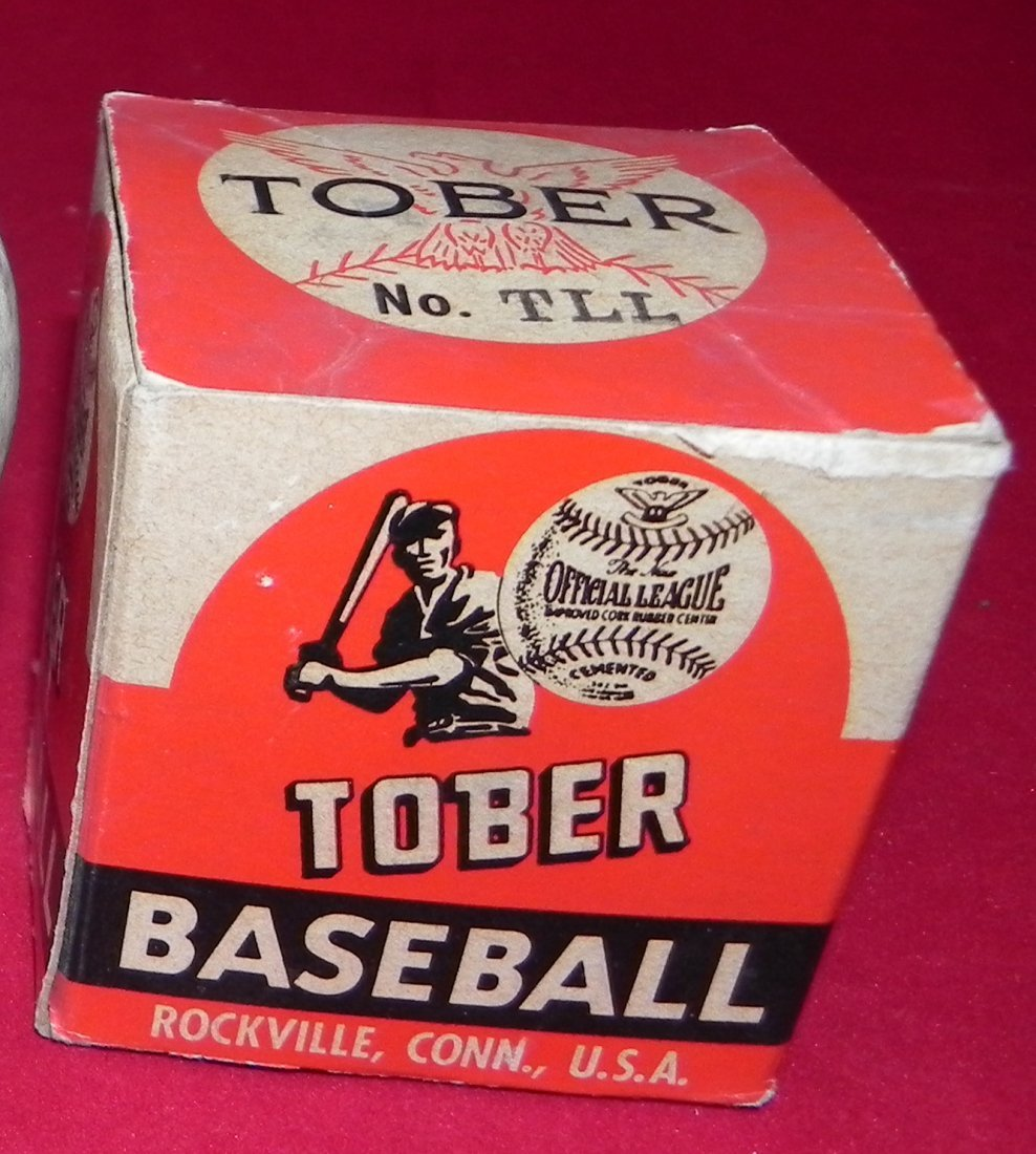 Circa 1930's Tober Baseball Box and Champion Model Ball - 3