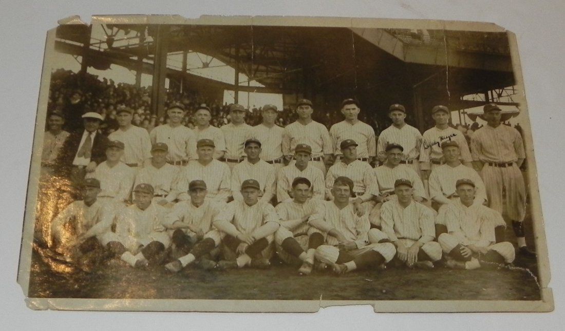1925 Signed Washington Nationals Team Photo w JSA LOA