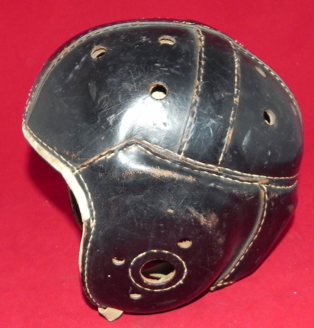 Antique 1930's Rawlings Leather Football Helmet