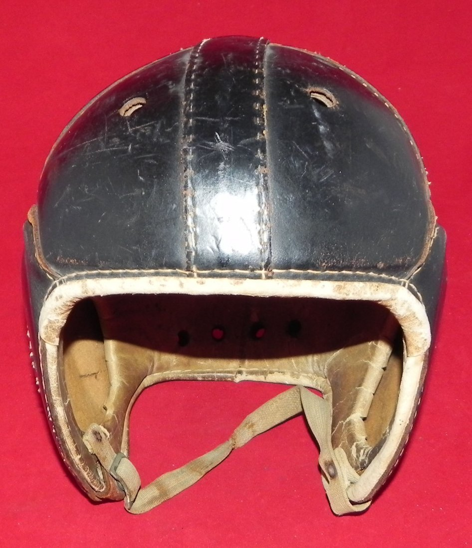 Antique 1930's Rawlings Leather Football Helmet - 2