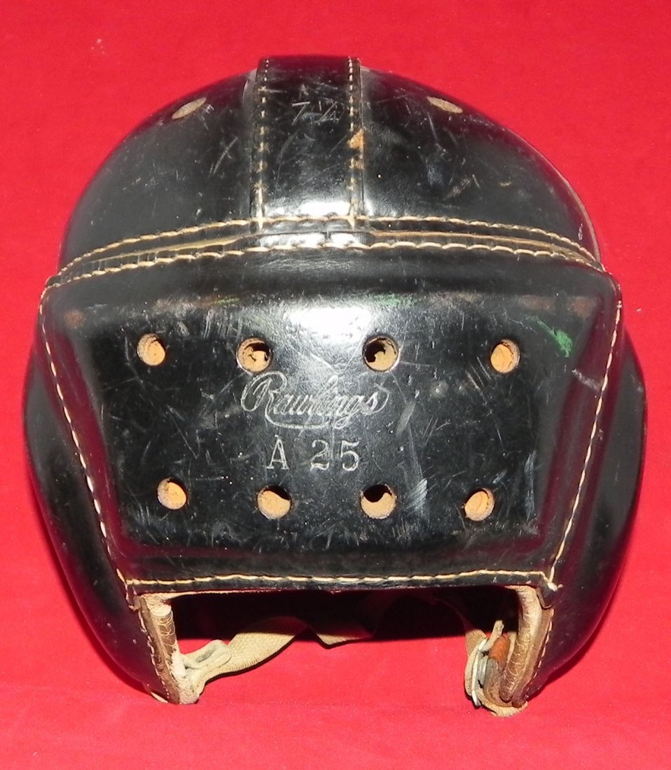 Antique 1930's Rawlings Leather Football Helmet - 3