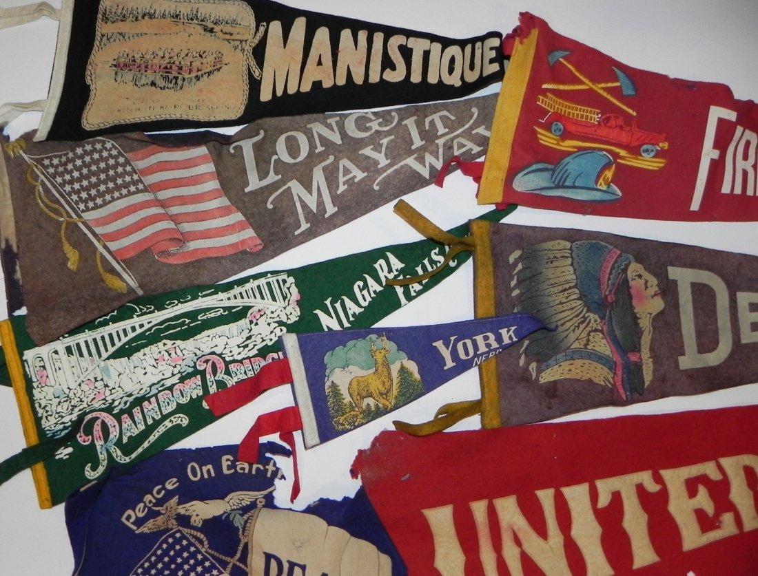 10 Vintage Pennants USA St Louis Zoo Firemen Travel - 3
