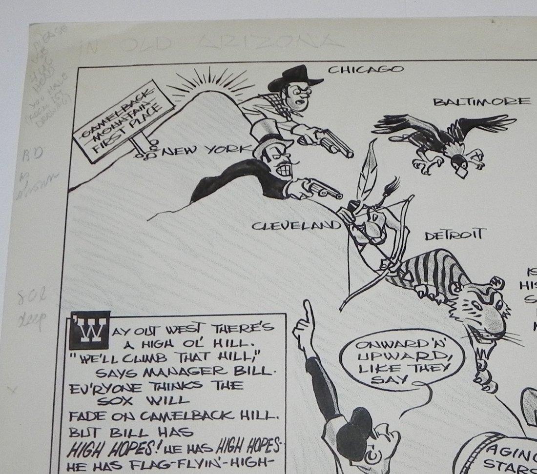 1959 Boston Red Sox Bill Jurges Baseball Original Art - 2