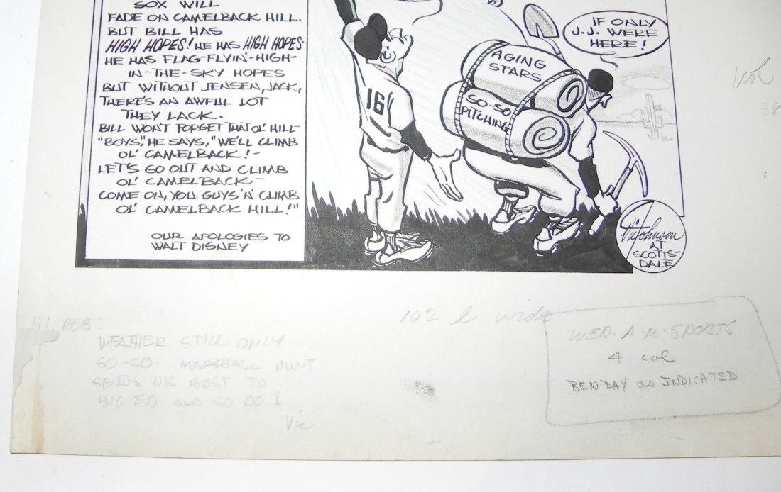 1959 Boston Red Sox Bill Jurges Baseball Original Art - 4